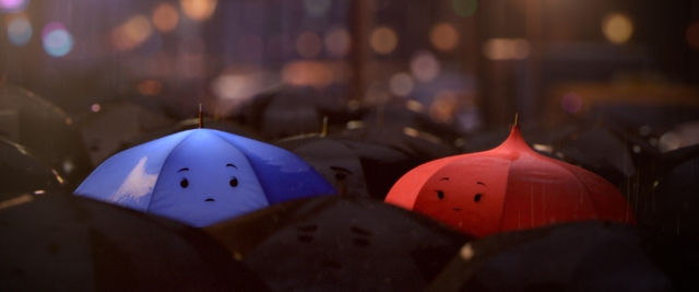 """THE BLUE UMBRELLA""  (Pictured) BLUE and RED. ©2013 Disney•Pixar. All Rights Reserved."